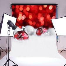 5x7ft Red Christmas Snow Backdrop Vinyl Photography Photo Background Studio Prop