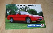 Reliant scimitar 1800 ti brochure flyer 1989-nissan 1800