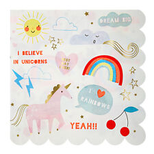 Party Supplies Paper Napkins Unicorn Rainbow Theme Birthday Party Pack of 16