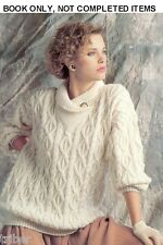 Mens Womens Aran Cable Sweaters Skirt Jackets Knitting PATTERNS 30-44 inch