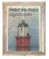 Point No Point Lighthouse Maryland Altered Art Print Upcycled Vintage Dictionary