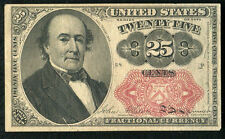 25 Twenty Five Cents Fifth Issue Fractional Currency Note Extremely Fine