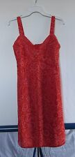 Anthropologie Anna Sui Red Floral Sundress Women's Sz 6