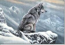 3D Effect Lenticular Printing Moving Picture Wall Decor *Lone Wolf in Snow*