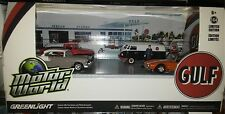 5 pack GULF VINTAGE GAS STATION Diorama Diecast 1:64 Greenlight 3 in Motor World