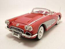 Chevrolet Corvette Cabrio 1958 rot, Modellauto 1:18 / Motormax