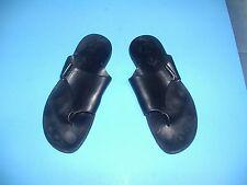 Mens Black Leather Cesare Paciotti Flip Flop Thong Sandals 11 (US 12)