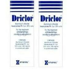 Driclor Under Arm Antiperspirant Roll On 75ml x 2 bottles  For Excessive Swea...