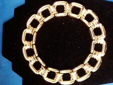Vintage Ciner Gold Tone Chain Chunky Link Choker Necklace