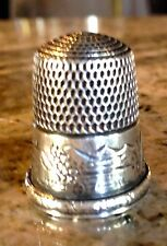 ANTIQUE SIMONS BROTHERS STERLING SILVER COLLECTIBLE SEWING THIMBLE-HOUSE CA 1880