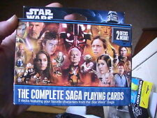 Star Wars, The Complete Saga Playing Cards by Cartamundi - Double Decks NEW