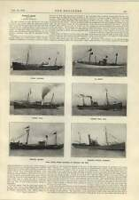 1914 Steam Trawlers Cochrane Jacinth Hull Exmouth Milford Pountney Hope