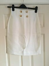 Brand New Women's Hobbs White Skirt Size UK 8