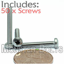 M2.5 x 20mm - Qty 50 - Stainless Steel Phillips Pan Head Machine Screws DIN 7985