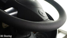 FOR SEAT IBIZA III 6L 2002-2008 BLACK PERFORATED LEATHER STEERING WHEEL COVER