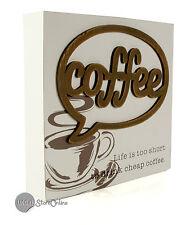 Chunky Mantel / Wall Coffee Sign ~ Coffee Shop Wall Plaque 60732