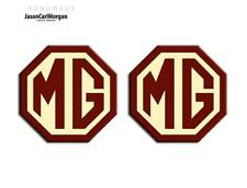 MG TF LE500 70mm Mk1 Badge Insert Set Front Rear MG Logo Burgundy & Cream Badges