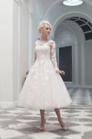 2016 New White/Ivory Lace Short Wedding Dress Bridal Gown Size 6/8/10/12/14/16