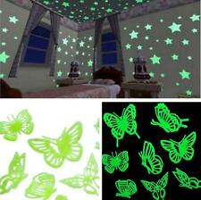Sale! Butterfly Glow In The Dark Vinyl Kids Baby Room Wall Sticker Decals Decor