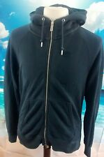 Nike ™ homme bleu 100% pur coton full zip sweat à capuche *** 21w 27l grand ***