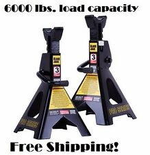 3 Tons Jack Stands Pair Axle Floor Truck Car Lift Set Heavy Duty Adjustable Auto