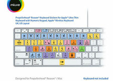Propellerhead Reason Keyboard Stickers | Mac | QWERTY UK, US | GLARE-FREE!
