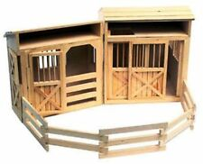 Melissa & Doug 785 WOODEN Folding Horse Stable with CORRAL, HORSE STABLE TOY