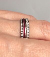 Tiffany & Co. Carre Cut Ruby Platinum Eternity Ring Band Vintage Deco