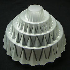 ART DECO LARGE SKYSCRAPER GLOBE FROSTED & CLEAR GLASS LAMP SHADE GEOMETRIC 1930