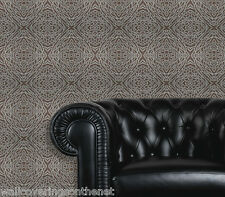Brown & Silver, Moroccan Influenced Design,Textured Vinyl Wallpaper by Erismann
