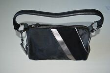 Juicy Couture Womens Small Black Shoulder Bag Purse Zip Closed Round