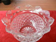 "Waterford Crystal Hospitality Pineapple Studio 10"" Centerpiece Bowl RARE"