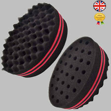 Double Side Twists Wave Barber Hair Brush Sponge For Dread Locs Afro Coils Curls