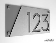 Modern House Numbers, Alucobond with Grey Acrylic