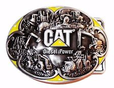 Caterpillar CAT DIESEL POWER Metal w/ Enamel Accents BELT BUCKLE