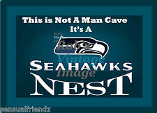 "Seattle Seahawks Nest Man Cave Sign Poster NFL Football 8""X11"" Great Gift idea"