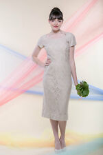 Vintage Lorch of Dallas Ecru Crocheted Lace Dress - Size 4-6