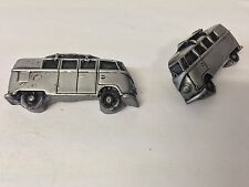 VW Campervan (Split Screen) With Surf Board ref293 classic car cufflinks