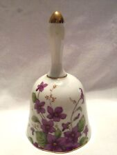 VINTAGE LEFTON CHINA VIOLETS 1991 PORCELAIN BELL