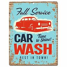 PP0778 Vintage Car Wash Chic Plate Sign Home Shop Restaurant Cafe Decor Gift
