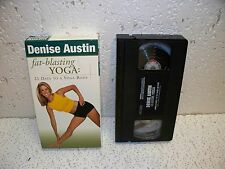 Denise Austin Fat Blasting Yoga Workout VHS Video Out Of Print
