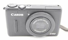 CANON POWERSHOT S100 12.1MP DITIAL CAMERA BLACK w/ BATTERY