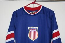 Nike V Series USA Olympic Hockey Sewn Jersey Men Medium M Athletic NHL Hip Rare