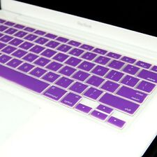PURPLE Silicone Keyboard Cover for Macbook White 13""