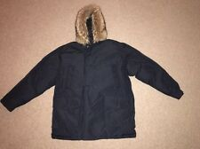Woolrich Arctic Fur Trimmed Winter Parka Dark Blue Mint Condition Jacket XL XXL