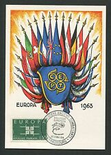 FRANCE MK 1963 EUROPA CEPT STRASBOURG 1964 MAXIMUMKARTE MAXIMUM CARD MC CM d5283