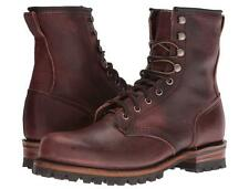 New in Box - $398.00 FRYE Logger Lace Up Chestnut Leather Boots Size 8.5