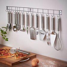 12 Piezas De Acero Inoxidable Utensilio de Cocina Artefacto Set y con Soporte Colgante/Rack