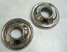 1933 1934 Ford Closed Car Stainless Door Handle Escutcheons PAIR '33 '34