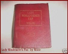 Miniature Antique Little RED Leather Library Book LADY WINDERMERE'S FAN by Wilde